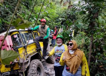 Bupati Masnah Busyro Ikuti Kegiatan Fun Offroad Adhyaksa Adventure Challenge