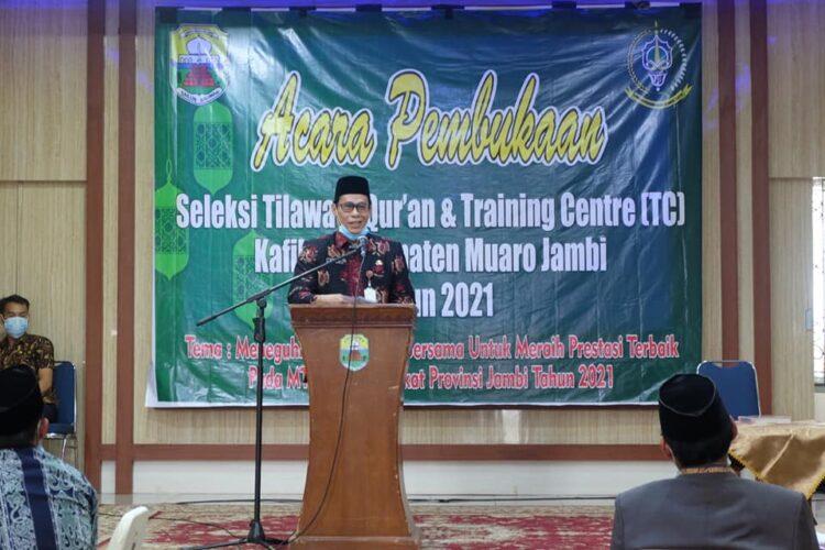 Sekda Muaro Jambi Buka Resmi Acara Seleksi Tilawatil Quran dan Training Centre